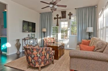East Austin Rental Living Room